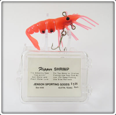 Jenson Sporting Goods Rocket Red Flipper Shrimp Lure In Box For Sale