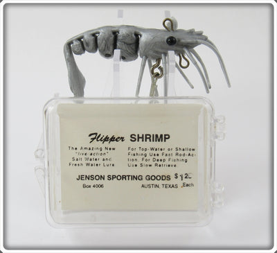 Jenson Sporting Goods Silvery Gray Flipper Shrimp Lure In Box