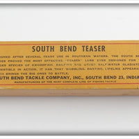 "South Bend White Body Red Arrowhead 11"" Teaser In Correct Box 981 RW"