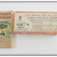 Heddon Empty Box & Pocket Catalog For 730 Shad Punkinseed