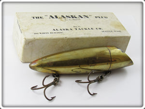 Vintage Alaska Tackle Co Brass The Alaskan Plug Lure In Correct Box