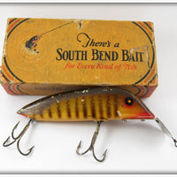 Vintage South Bend Pike Scale Min Oreno Lure In Box 927 P