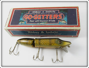 Vintage Heddon Abbey & Imbrie 73 Pike Scale Jointed Vamp Lure In Box