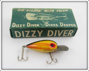 Fishathon Bait Mfg Little Joe Dizzy Diver In Silver Black Scale Box