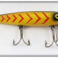 Vintage Pflueger Yellow Body Red Stripes Palomine Lure 5043