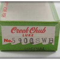 Creek Chub White Black Spots Midget Plunker In Box 5900 SWB Special