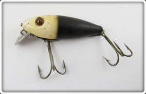 Heddon Black White Head 110 River Runt