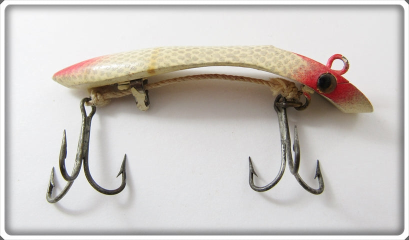Vintage Martin Red Head Silver Scale Flat Model Salmon Plug Lure