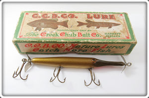 Vintage Creek Chub Natural Gar Minnow Lure In Correct Box 2900