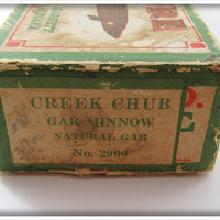 Creek Chub Natural Gar Minnow In Correct Box