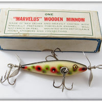 Vintage Pflueger Spotted Marvelus Minnow Lure In Correct Box
