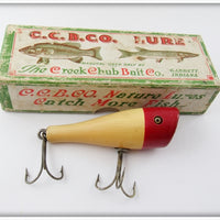 Vintage Creek Chub Red Head White Plunker Lure In Box 3202