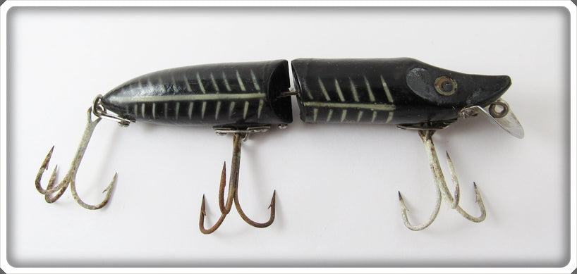 Vintage Heddon Black Shore Two Piece Hardware Jointed Vamp Lure 9739XBW