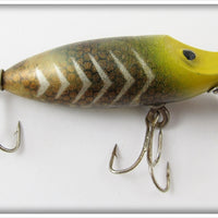 Vintage Rinehart Gold Scale White Bar Chuby Lure