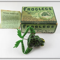 Vintage Jenson Green Froglegs Kicker Lure In Box