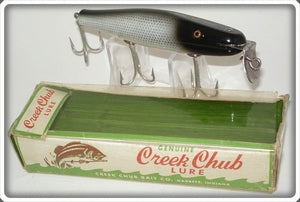 Vintage CCBC Creek Chub Silver Shiner Surfster Lure In Box 7203