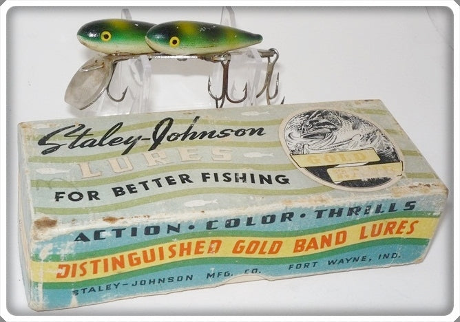 Vintage Staley Johnson Mfg Co Twin Minn Lure In Correct Box