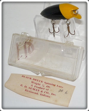 Vintage R.D. Suman & Co Black Deuce Lure In Box