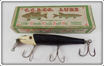 Creek Chub Bait Co Black With White Head Husky Pikie In Box 2311