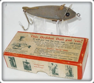 Vintage Heddon 210 GM Grey Mouse Lure In Correct Box