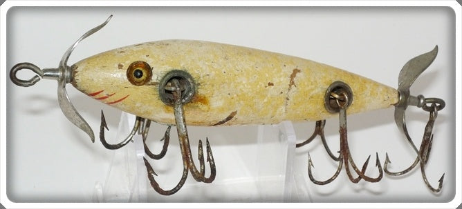 Shakespeare Early Solid White Five Hook Minnow