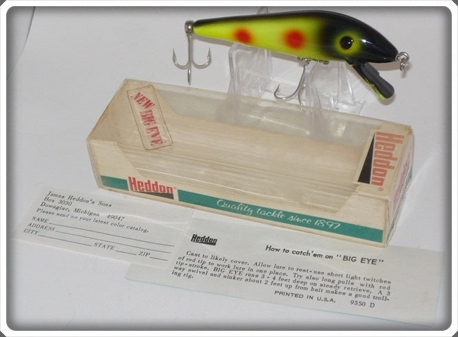 Heddon Big Eye Tiger In Correct Box