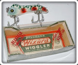 "Pflueger Green Cracked Back ""Argyle"" Wizard In Correct Box 4875"