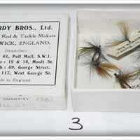 Antique Vintage Hardy Bros Of Alnwick, England Box Of Lures Flies