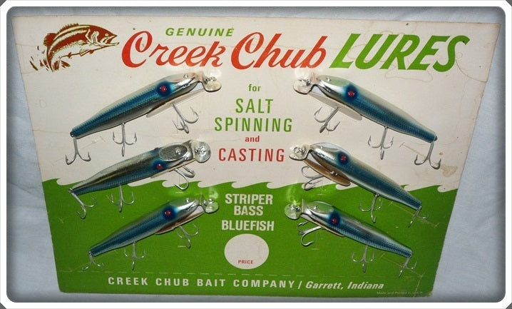 Creek Chub Bait Company Chrome Pikie Dealer Display 740