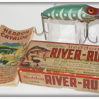 Vintage Heddon Glow Worm River Runt Lure In Box 9110 GW