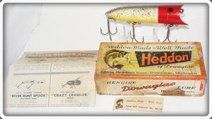 Heddon Red Head Flitter Lucky 13 In Correct Box