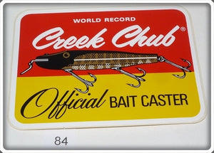 Creek Chub World Record Official Bait Caster Sticker