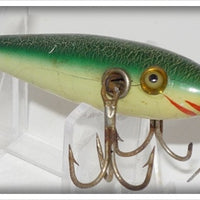 Pflueger Green Crackleback Three Hook Neverfail Minnow