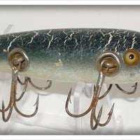 South Bend Green Crackleback Five Hook Minnow