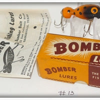 Bomber Bait Co Orange And Black Bomberette In Correct Box