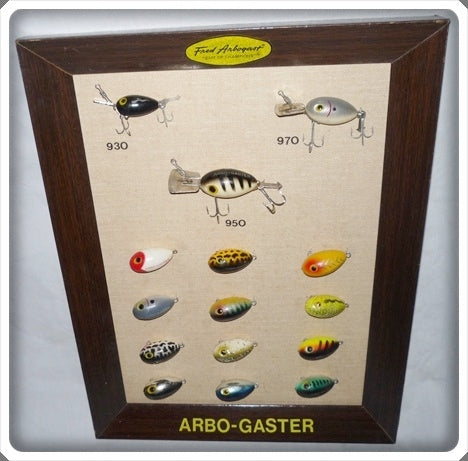 Fred Arbogast Arbo-Gaster Dealer Display Board