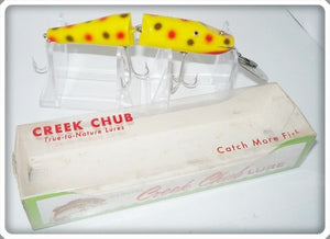 Vintage CCBC Creek Chub Yellow Spotted Jointed Pikie Lure 2614 DD