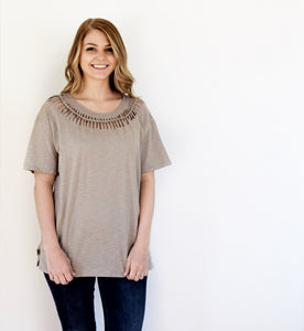 Melony Slub Braid T-Shirt