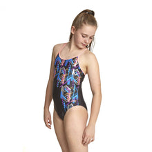 Zoggs Junior Shimmer Sprintback - Multi/Black - Swimming Fun