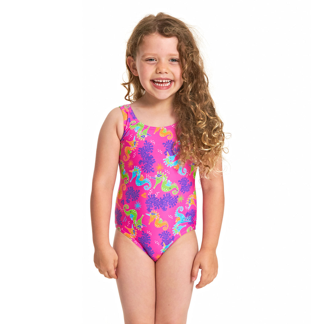 Zoggs Girls Sea Unicorn Scoopback Swimsuit - Swimming Fun