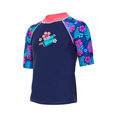Zoggs Girls Kona Rashvest Sun Top UPF 50+ - Swimming Fun