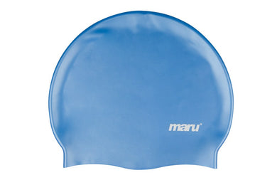 Maru Solid Silicone Swim Cap Blue - Swimming Fun