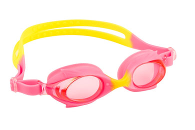 Maru Dolphin Anti Fog Junior Goggles - Pink / Yellow - Swimming Fun