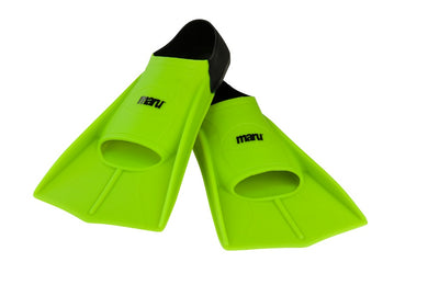 Maru  - NEW Training Fins - Neon Lime / Black - Swimming Fun