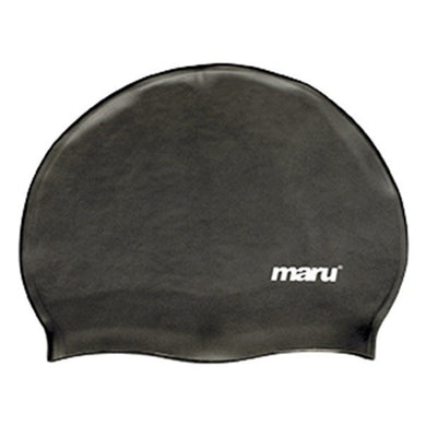 Maru Solid Silicone Swim Cap Black - Swimming Fun