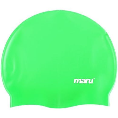 Maru Solid Silicone Swim Caps Green - Swimming Fun