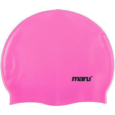Maru Solid Silicone Swimming Cap - Pink - Swimming Fun