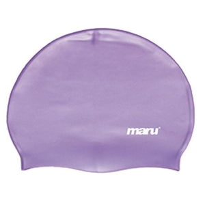 Maru Solid Silicone Swim Caps Purple - Swimming Fun