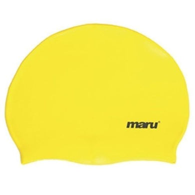 Maru Solid Silicone Swim Caps Yellow - Swimming Fun