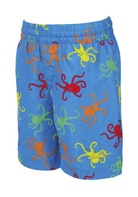 Zoggs Boys Octopus Fever Blue Swimming Water Shorts - Swimming Fun